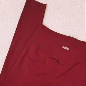 PINK Victoria's Secret Pants - Pink, Bonded Burgundy High W. Ultimate Leggings